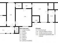 Půdorys domu - Prodej domu v osobním vlastnictví 135 m², Černuc