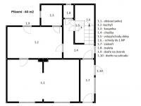 Půdorys přízemí - Prodej domu v osobním vlastnictví 180 m², Litoměřice