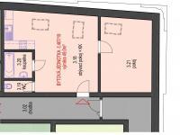Plánek bytu (Pronájem bytu 2+kk v osobním vlastnictví 49 m², Brno)
