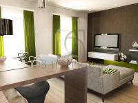 vizualizace - obývací pokoj (Prodej domu 138 m², Hrádek nad Nisou)
