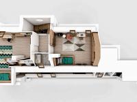 Půdorys 2.patro bytu - Prodej bytu 5+kk v osobním vlastnictví 201 m², Liberec