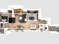 Půdorys 1.patro bytu - Prodej bytu 5+kk v osobním vlastnictví 201 m², Liberec