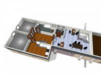 Půdorys podkroví domu č.1 - Prodej domu v osobním vlastnictví 410 m², Cvikov