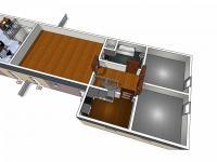Půdorys podkroví domu č.2 - Prodej domu v osobním vlastnictví 410 m², Cvikov