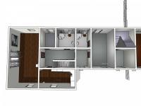 Půdorys domu č.1 - Prodej domu v osobním vlastnictví 410 m², Cvikov