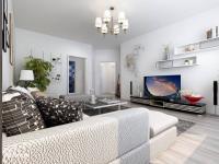 Vizualizace obýv. pokoj - Prodej bytu 1+1 v osobním vlastnictví 46 m², Jablonné v Podještědí