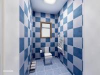 Vizualizace WC - Prodej bytu 1+1 v osobním vlastnictví 46 m², Jablonné v Podještědí