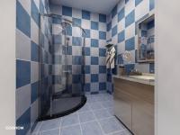 Vizualizace koupelna - Prodej bytu 1+1 v osobním vlastnictví 46 m², Jablonné v Podještědí