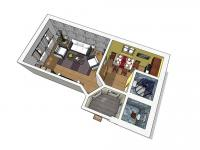 Půdorys - Prodej bytu 1+1 v osobním vlastnictví 46 m², Jablonné v Podještědí