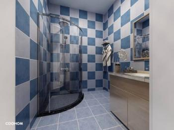Vizualizace koupelnový kout - Prodej bytu 2+kk v osobním vlastnictví 70 m², Jablonné v Podještědí