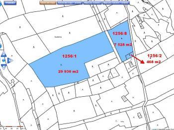 Celek - tři pozemky - katastr - Prodej pozemku 37926 m², Chuchelna