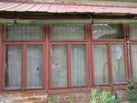Pohled na okna verandy - Prodej domu v osobním vlastnictví 72 m², Bělčice