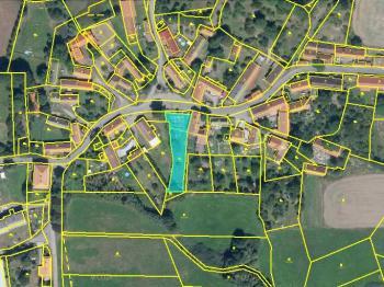 letecký snímek - Prodej pozemku 1055 m², Milín