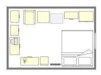 dispozice 1. patro (Prodej chaty / chalupy 33 m², Cheb)