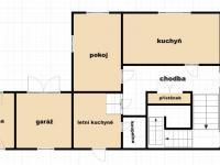 dispozice přízemí (Prodej domu v osobním vlastnictví 200 m², Plesná)