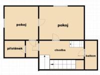 dispozice 1. NP (Prodej domu v osobním vlastnictví 200 m², Plesná)