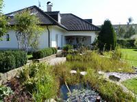jezírko a terasa (Prodej domu v osobním vlastnictví 451 m², Františkovy Lázně)