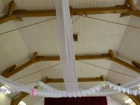 stylový strop sokolovny - Prodej domu v osobním vlastnictví 360 m², Krásná