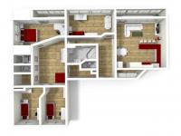 Půdorys (Prodej bytu 5+kk v osobním vlastnictví 165 m², Říčany)