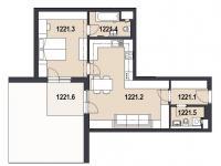 Prodej bytu 2+kk v osobním vlastnictví, 119 m2, Praha 9 - Letňany