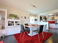 Obývací pokoj - jídelní kout (Prodej domu v osobním vlastnictví 170 m², Větrušice)