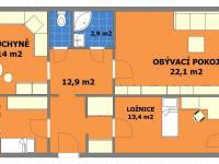 Prodej bytu 3+1 v osobním vlastnictví 77 m², Praha 9 - Černý Most