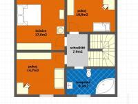dispoziční schéma 2NP Květnice (Prodej domu v osobním vlastnictví 117 m², Květnice)