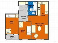 Prodej bytu 3+kk v osobním vlastnictví 53 m², Praha 8 - Bohnice