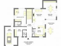 orientační plánek přízemí - Prodej domu v osobním vlastnictví 215 m², Řehenice