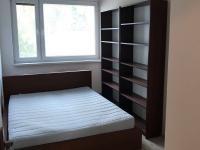 Ložnice - pohled od vstupních dveří, ložnici je nezařízená (postel v pokoji není, pouze policová stěna)! (Pronájem bytu 3+1 v osobním vlastnictví 75 m², Praha 8 - Libeň)