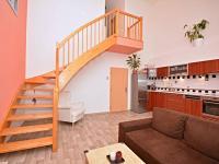Obývací pokoj (Prodej bytu 3+kk v osobním vlastnictví 83 m², Praha 9 - Letňany)