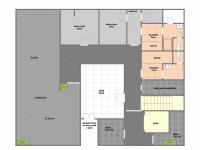 půdorys suterén (Pronájem kancelářských prostor 294 m², Praha 4 - Modřany)