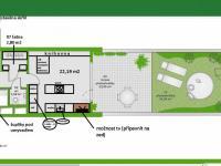 Plánek - Prodej bytu 3+kk v osobním vlastnictví 108 m², Praha 10 - Malešice