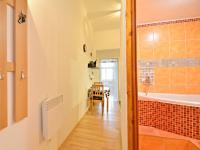 Pohled do koupleny, kuchyně a obytné místnosti z předsíně bytu. - Prodej bytu 1+1 v osobním vlastnictví 42 m², Praha 7 - Holešovice