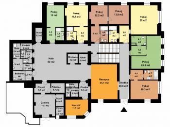 1.nadzemní podlaží - Prodej hotelu 1248 m², Teplice