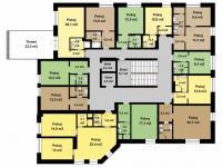 3. nadzemní podlaží - Prodej hotelu 1248 m², Teplice