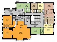 2.nadzemní podlaží - Prodej hotelu 1248 m², Teplice