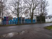Pohled na halu z ulice (Pronájem skladovacích prostor 1100 m², Tuchlovice)