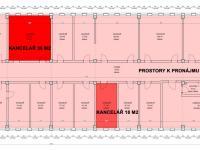Půdorys 3.NP (Pronájem kancelářských prostor 36 m², Kladno)