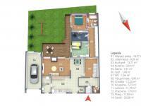 Půdorys přízemí domu - Prodej domu v osobním vlastnictví 125 m², Nové Strašecí