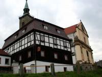 RON + Kostel sv. Mikuláše (Prodej hotelu 1500 m², Mikulášovice)