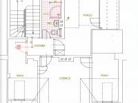 Půdorys 2. patro - Pronájem komerčního objektu 190 m², Most