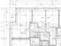 Plánek bytu (Prodej bytu 3+kk v osobním vlastnictví 80 m², Praha 10 - Štěrboholy)