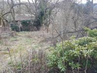 Pohled od cesty na chatku (Prodej pozemku 526 m², Mnichovice)
