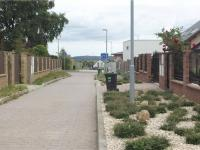 jednosměrná tichá ulice, přímo před domem (Prodej domu v osobním vlastnictví 186 m², Sulice)