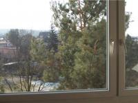 výhled, nová plastová okna (Prodej bytu 2+kk v osobním vlastnictví 43 m², Říčany)