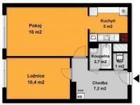 Prodej bytu 2+kk v osobním vlastnictví 43 m², Říčany