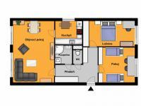 možnost dispozice po rekonstrukci (Prodej bytu 3+1 v osobním vlastnictví 68 m², Praha 9 - Střížkov)