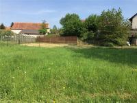 oplocená zahrada má i vjezdovou bránu (posekaná část) (Prodej domu v osobním vlastnictví 101 m², Týnec nad Sázavou)