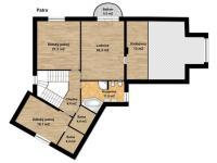 půdorys 2.NP (Prodej domu v osobním vlastnictví 294 m², Kamenice)